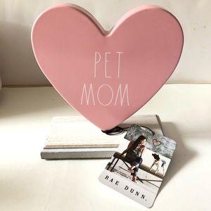 Rae Dunn Pet Mom tin wood sign office home decor